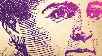 Ilustración del rostro de Marie Curie