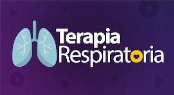 Fondo morado con texto blanco: Terapia respiratoria