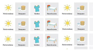 Imagen decorativa con ejemplos de horario visual