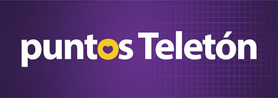 Texto sobre fondo morado: Puntos Teletón