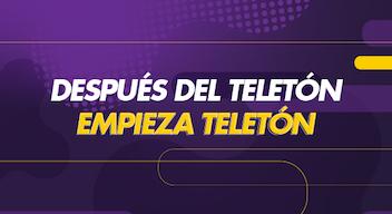 Texto sobre fodo morado: Después del Teletón empieza Teletón